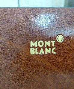 Clucth Mont Blanc da bò, đậm chất quý ông VOC61 (Vân Gỗ)
