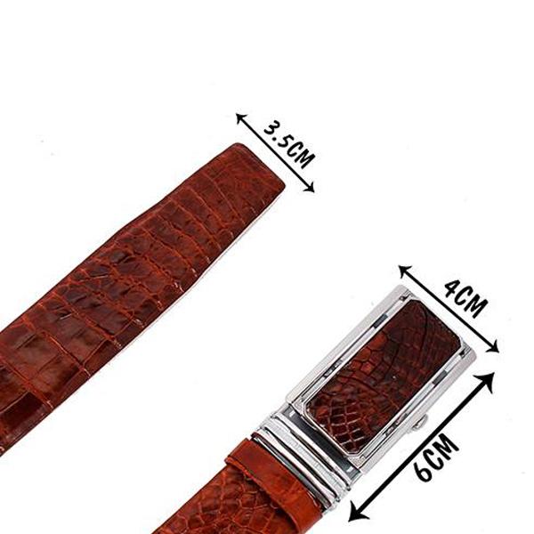 Mua dây lưng da cá sấu ST001, dây lung cá sấu thật
