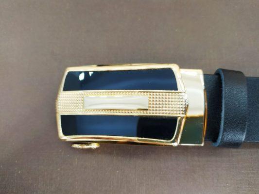 Dây lưng nam mặt khóa viền kim loại cao cấp VOX15