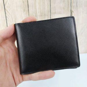 Bóp da nam đăng cấp màu đen VDD42