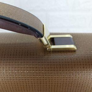 Cặp da Montblanc khóa số màu nâu VOD66