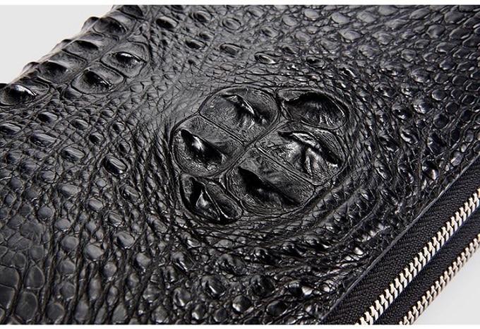 Clutch cầm tay da bò vân cá sấu VOC60
