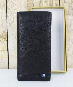 Clutch cầm tay Polo Golden màu đen, lịch lãm VOC56