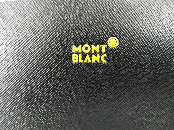 Clutch nam Mont Blanc da Saffiano cao cấp VOC63