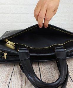 Túi xách da bò dáng công sở đơn giản VOD54