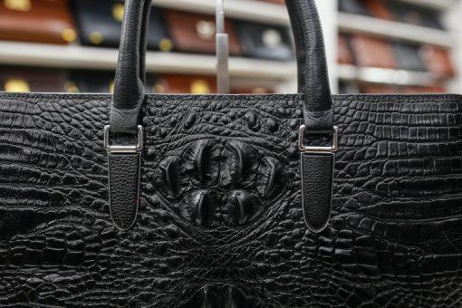 Túi xách da bò dập vân cá sấu (khóa số) DT14-D