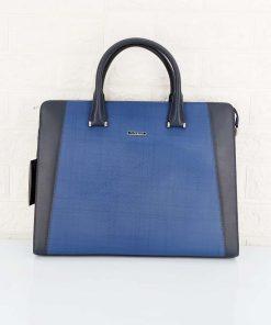 Túi xách da bò màu xanh dáng công sở VOD55