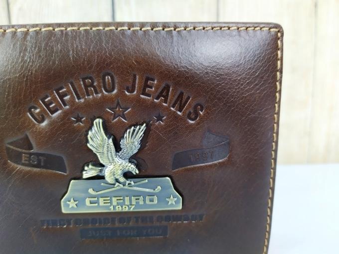 Ví da Cefiro Jeans dáng gấp xịn VDD72