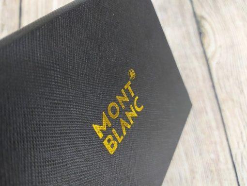 Ví da MontBlanc dáng đứng màu đen VDD21