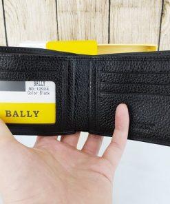 Ví da nam Bally màu đen VDD57