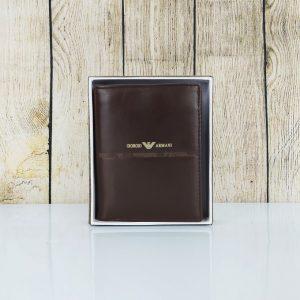Ví da nam Giorgio Armani, màu nâu lịch lãm VDD50