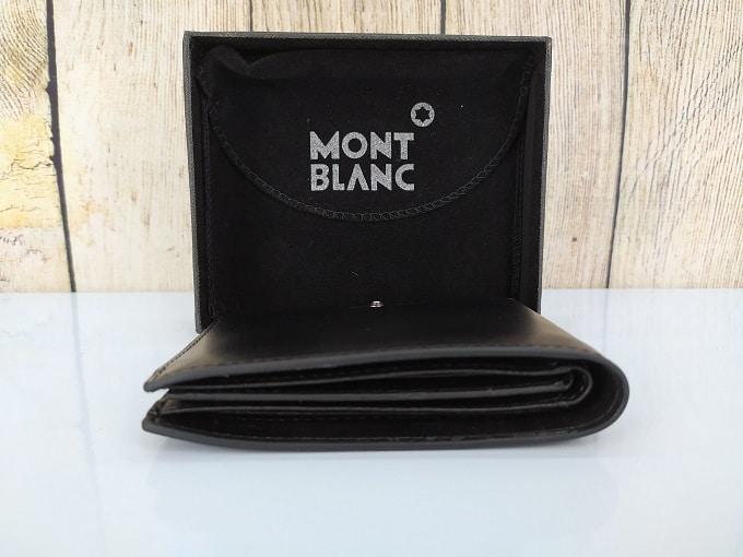 Ví da nam Mont Blanc màu đen, dáng đứng VDD53