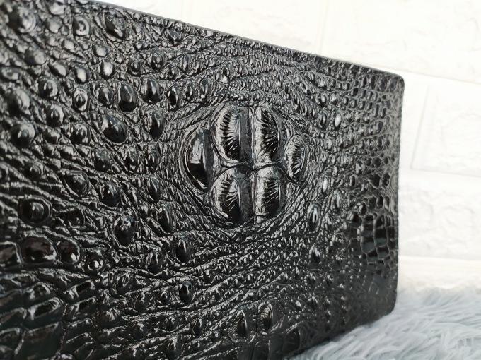 Ví dài cầm tay khóa số màu đen VOC70