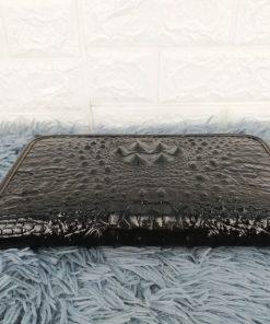 Ví dài nam dập vân cá sấu, màu đen VOC72
