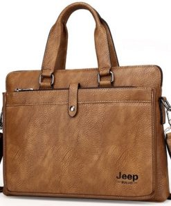 Túi da Jeep màu nâu VOP22